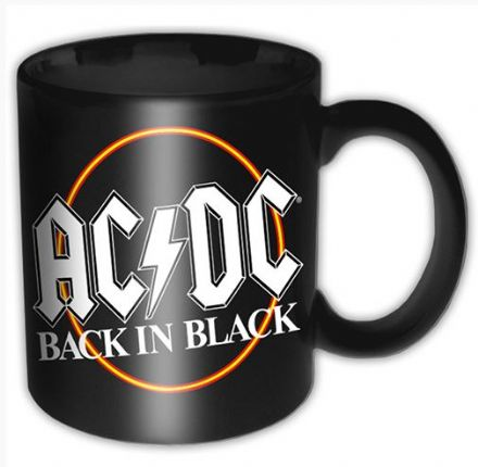 AC/DC 'Back in Black' Circle Ceramic Mug